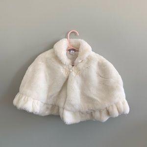 Heartstrings 5-6 Bolero Jacket White Faux Fur Coat
